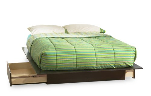 Step One Collection Queen Platform Bed with Drawers