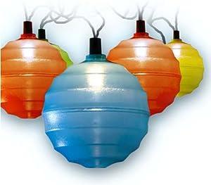 Set of 20 Solar String Coloured Garden Lantern Lights