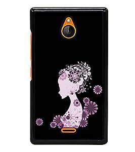 Girl Clipart 2D Hard Polycarbonate Designer Back Case Cover for Nokia X2 Dual SIM :: Nokia X2 RM-1013 :: Nokia X2DS