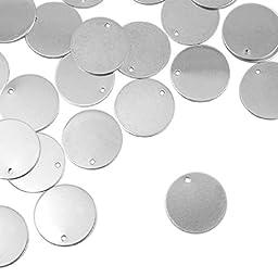 Alkeme Stamping Blank, Circle w/ Hole, 3/4- 24 pc.