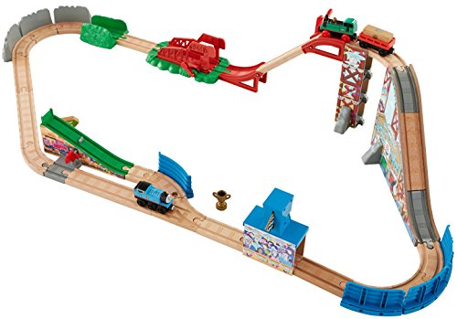 fisher price thomas the train wooden railway race day relay set epic kids toys. Black Bedroom Furniture Sets. Home Design Ideas