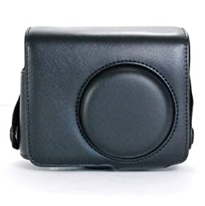 COSMOS ® Black Leather Case Cover Bag For Nikon P7000 Camera + Cosmos cable tie