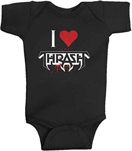 Testament I Heart Thrash Baby Romper T-Shirt