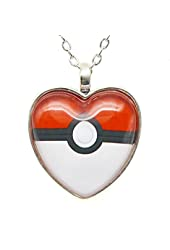Pokeball Necklace Pokemon Pendant Pokemon Jewelry Custom Picture Necklace Fashion Lover Christmas Gift