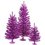 Vickerman Tabletop Decor Tree, 12-Inch by 18-Inch by 24-Inch, Purple