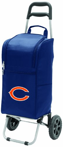 Nfl Chicago Bears Insulated Cart Cooler With Wheeled Trolley, Navy front-593814