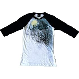 Twilight Saga Logo Trees Forest Ringer T-shirt