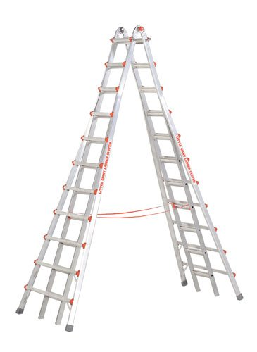 Little Giant Ladder #10121 Model 21 Skyscraper Mxz Telescoping A-Frame Type 1A 300 Lb Rated With Free Work Platform