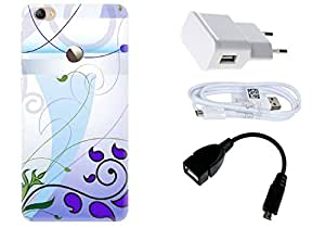 Spygen LeEco Letv Le 1S Case Combo of Premium Quality Designer Printed 3D Lightweight Slim Matte Finish Hard Case Back Cover + Charger Adapter + High Speed Data Cable + Premium Quality OTG