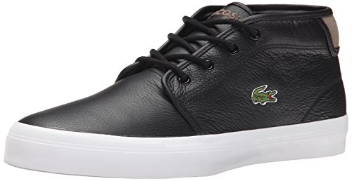 Lacoste Men's Ampthill Chunky SEP Fashion Sneaker, Black/Black, 10 M US