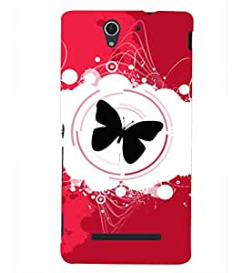 PRINTSHOPPII BUTTERFLY Back Case Cover for Sony Xperia C3 Dual D2502::Sony Xperia C3 D2533