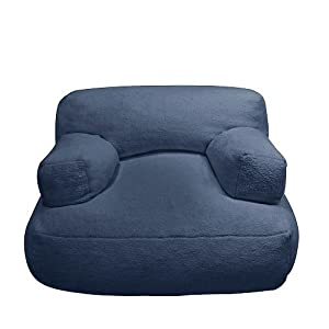 co Kids Sherpa Cuddle Bean Chair, Navy by Newco Kids