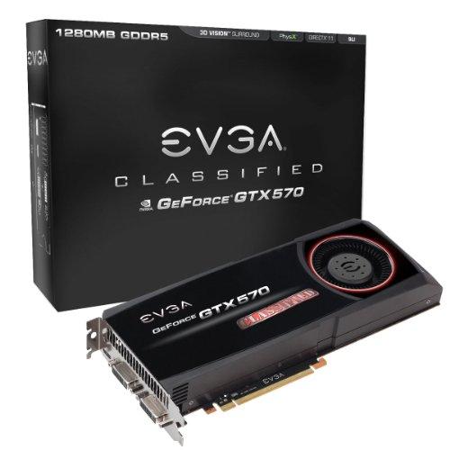 EVGA GeForce GTX 570 Classified 1280 MB GDDR5 PCI Express 2.0 2DVI/HDMI/Display Port SLI Ready Limited Lifetime Warranty Graphics Card, 012-P3-1578-AR
