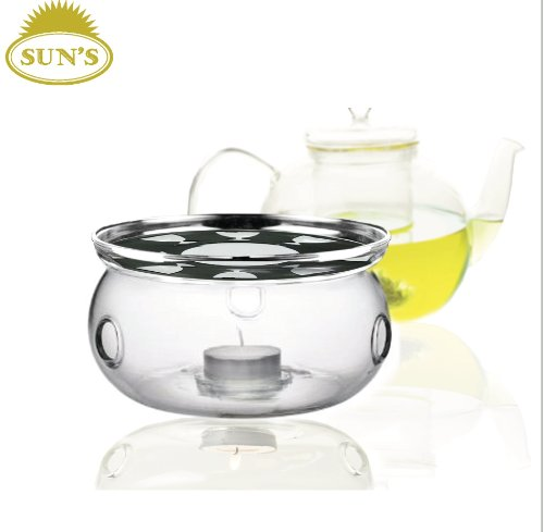 Discover Bargain Sun's Tea (Tm) Ultra Clear Borosilicate Glass Teapot Warmer (Clear)
