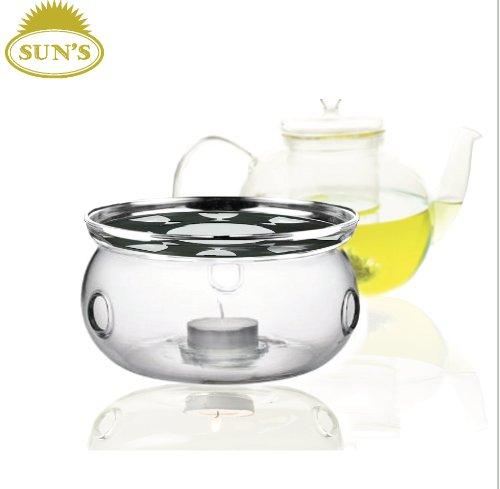 Discover Bargain Sun's Tea (Tm) Ultra Clear Borosilicate Glass Teapot Warmer (Clear)