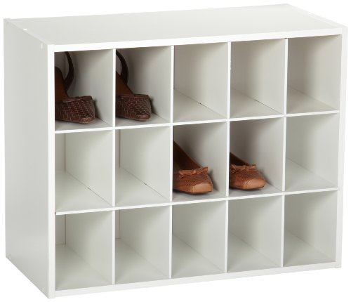 Closetmaid 15 Cubby Shoe Organizer Accessory Storage Shelf
