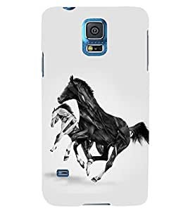 PRINTSWAG HORSES Designer Back Cover Case for SAMSUNG GALAXY S5