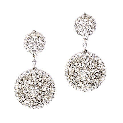 Dangling C.Z. Simulated Diamond Sparkling Earrings (Nice Holiday Gift, Special Black Firday Sale)