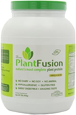 PlantFusion Protein Vanilla Bean 2lb by Planet Fusion (English Manual)