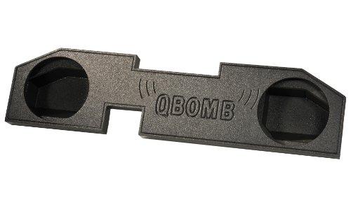 "Qbomb Dodge Ram '02-Newer Quad Cab Dual 12"" Sub Box Enclosure W/ Bedliner Spray"