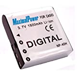 Maximalpower NP-40 1500mah Li-ion Battery Pack For Casio Exilim Digital Cameras EX-Z1080 EX-Z1050 EX-Z1000 And...