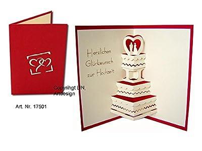 Karte mit Hochzeitstorte