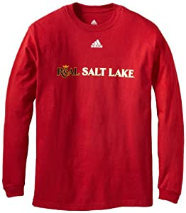 MLS Real Salt Lake Men's Primary One Long Sleeve Tee, Victory Red, Medium