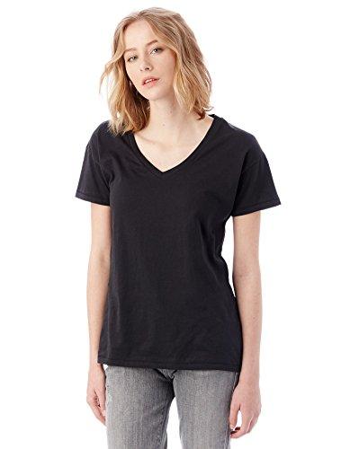 Alternative Womens Perfect Organic Pima V-Neck T-Shirt Small Black (Alternative Perfect V Neck compare prices)