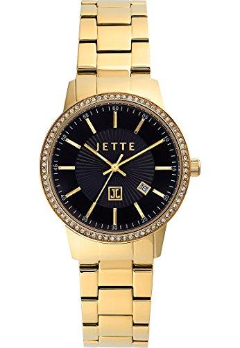 JETTE-TIME-Damen-Armbanduhr-Analog-Quarz-One-Size-schwarz-goldschwarz