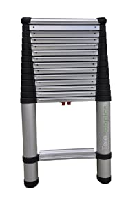 Telesteps 1800EP Pro 300-Pound Duty Rating Aluminum Telescoping Extension Ladder with Wide Step, 14 1/2 Foot