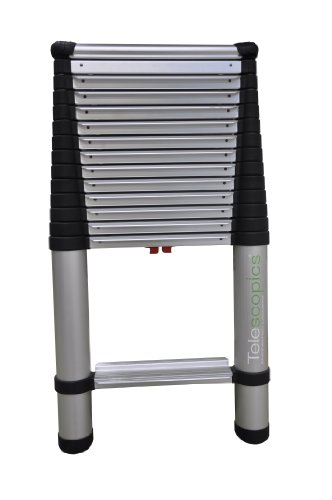 14 Aluminum Extension Ladder : Telesteps ep pound telescoping extension tools