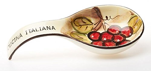 Original cucina italiana ceramic deep spoon rest 9 soft for Cucina italiana design