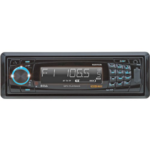 Boss 620UA In-Dash Single-DIN MP3-Compatible Digital Media AM/FM Receiver (Discontinued by Manufacturer)