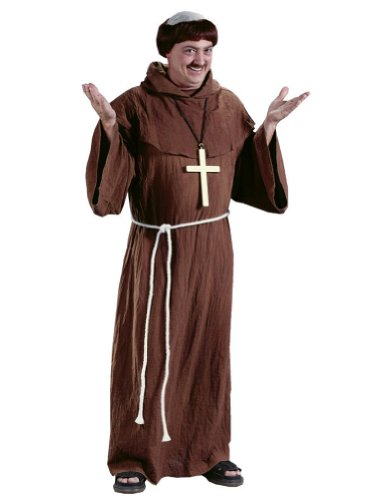 Medieval Monk Adult Halloween Costume - Most Adults