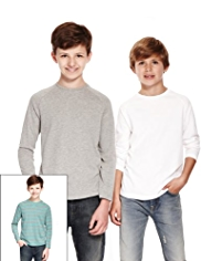 3 Pack Cotton Rich T-Shirts with StayNEW™