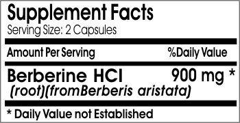 Pure and High Potency Berberine; 900mg Per Serving; 90 Capsules