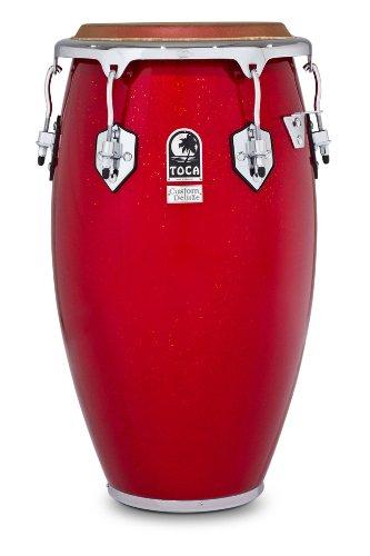 Toca 4612-1/2Fr Custom Deluxe Fiberglass Tumba - Red Sparkle