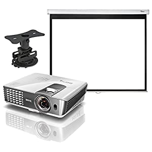 BenQ HT1085ST 1080P 2200 ANSI Lumen 3D Full HD Short Throw Home Theater Projector All Inclusive Bundle Includes: HT1085ST Projector, Optoma Panoview DS-3084PMG 84 Inch 4:3 Manual Pull-Down Projector Screen, & Low Profile Projector Mount