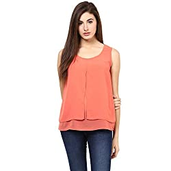 WOMENS TOP: Solid Layered Top, Designed in NYC-(16.04.209Orange-XXL)