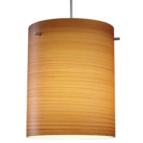 """Regal 1 Light Led Mini Pendant Size: 4"""" With Junction Box, Finish: Bronze, Shade Color: Brown Texture"""