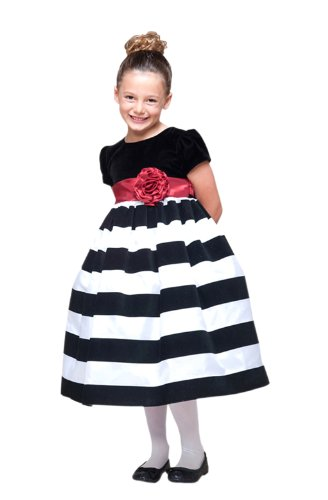Candy Cane Cutie Striped Holiday Dress for Babies and Girls