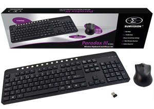 Sumvision Paradox III 2.4GHz Wireless Keyboard and Optical Mouse Set