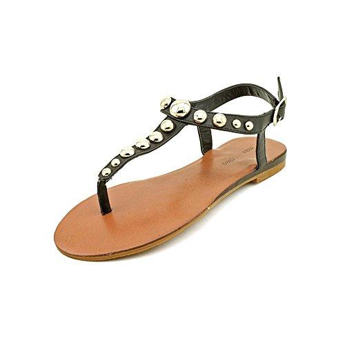 Maxandcleo Mc628 Womens Size 7.5 Black Thongs Sandals Shoes