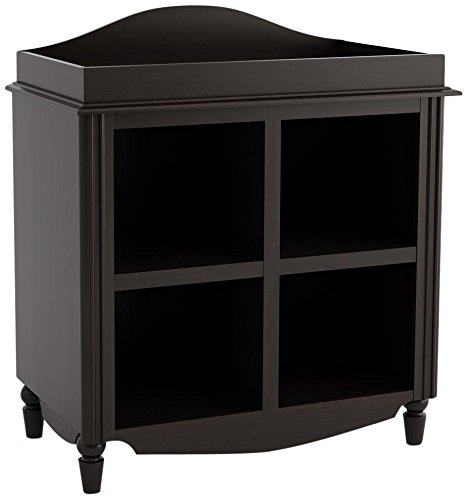 Cosco The Avery Line 4-Shelf Open-Front Cube Storage Changing Table, Dark Cherry Finish - 1
