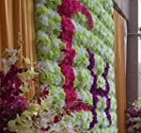 華やか な バラ 造花 花びら 花のみ 8cm 30コ 手作り パーティー お祝い 結婚式 二次会 イベント 装飾 等 に 選べるカラー オレンジ 黒 ピンク 赤 紫 黄色 青 白 星型夜光ステッカー セット (イエロー)
