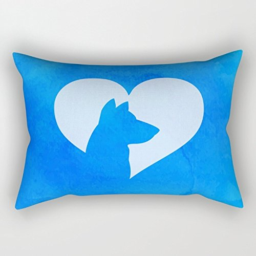 Dogs Throw Cushion Covers,for Decorative, Dance, Study Room, April Fool's Day, Arbor Day, Home Office, Labor Day, Play Room, Home, Memorial Day, 18 X 26 Inch / 45 By 65 Cm(twice Sides Printed) (Pottery Barn Bulldog Pillow compare prices)