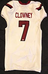 Jadeveon Clowney Autographed White South Carolina Gamecocks Game Used Jersey