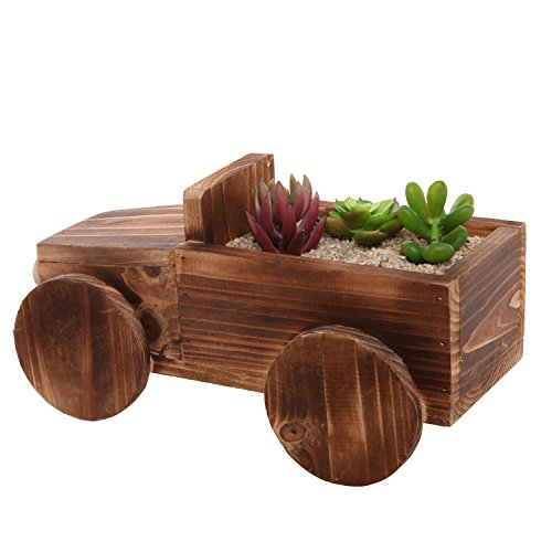 Vintage Car Design Indoor & Outdoor Wood Plant Container
