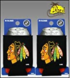 SET OF 2 CHICAGO BLACKHAWKS NHL CAN KADDY KOOZIE COOLER at Amazon.com