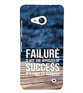 EPICCASE Failure is part of success Mobile Back Case Cover For Microsoft Lumia 550 (Designer Case)